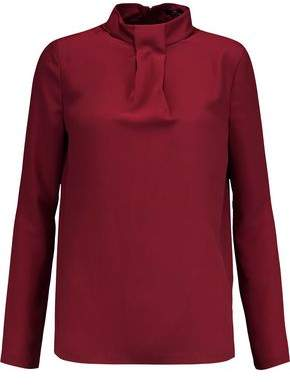 Raoul Yves Pleated Crepe De Chine Blouse