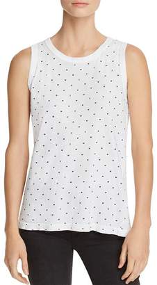 Current/Elliott The Easy Heart Print Muscle Tank