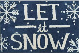 St Nicholas Square Supersoft Let it Snow Holiday Rug - 24'' x 36''