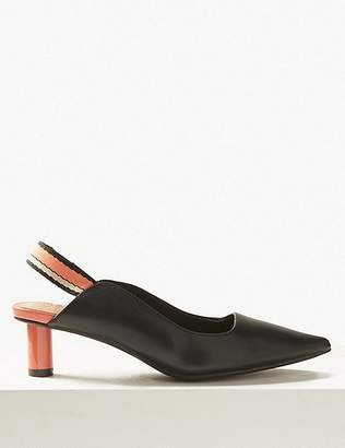 Marks and Spencer Pointed Toe Slingback Shoes
