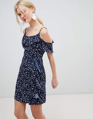 Vero Moda Ruffle Printed Mini Dress
