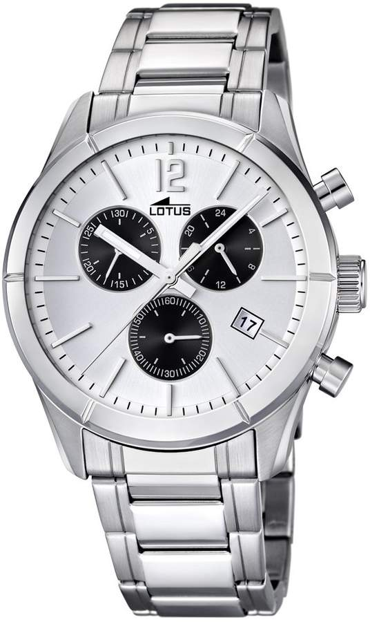 Lotus Men's Quartz Watch with Dial Chronograph Display and Silver Stainless Steel Bracelet 15849/5