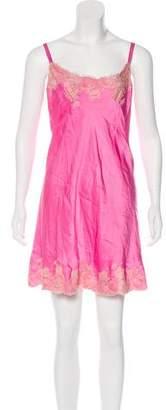 Josie Natori Lace-Trimmed Slip Dress