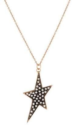 Parulina 14K Diamond Shooting Star Pendant Necklace