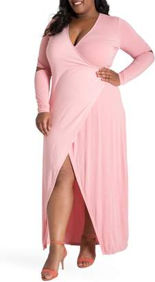 Justice Poetic Rosa Maxi Wrap Dress