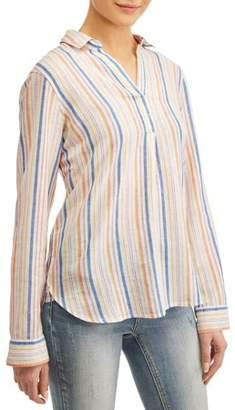 1169c0a00aa Alexander Jordan Women's Linen Blend Popover