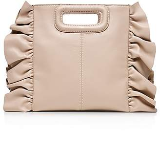 Maje Leather Ruffle Crossbody