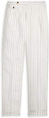 Straight Fit Linen-Blend Trouser