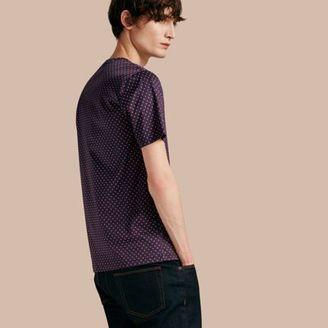 Burberry Geometric Print Cotton T-shirt $395 thestylecure.com