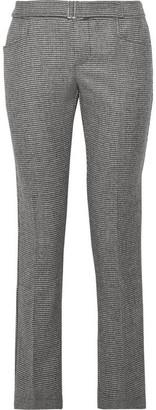 Simon Miller Hazen Houndstooth Wool-blend Straight-leg Pants - Black