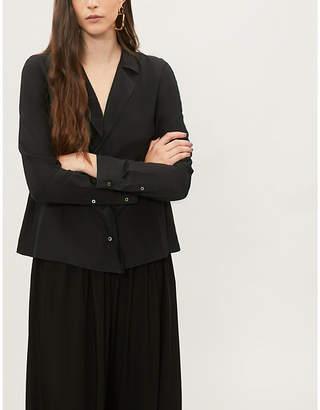 Jil Sander Revere-collar silk shirt