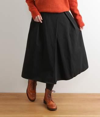 コットンツイル無地切り替えスカート(B・ブラック)