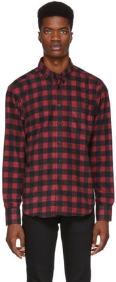 Naked & Famous Denim Denim Red Brushed Buffalo Check Shirt
