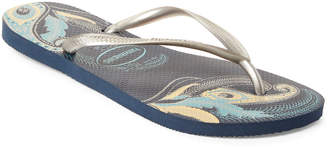 Havaianas Blue & Silver Slim Organic Flip Flops
