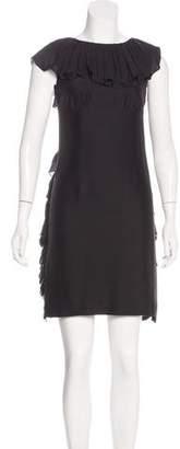 Loeffler Randall Silk Ruffle Dress