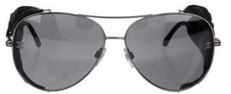 Chanel Quilted Aviator Sunglasses silver Quilted Aviator Sunglasses