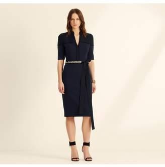 Amanda Wakeley Midnight Colour Block Shift Dress