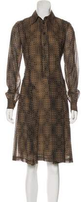 Fendi Printed Silk Dress
