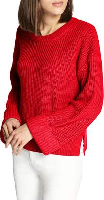 Sanctuary Bell Sleeve Shaker Sweater