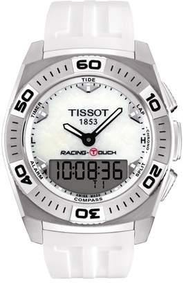 Tissot Men's Touch Racing Rubber Bracelet Watch, 43mm