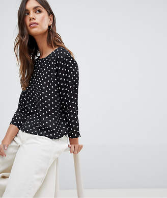 Vila Polka Dot Cropped Top With Open Back