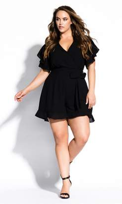f47c5544bcf4 at City Chic City Chic Citychic Frill Love Playsuit - black