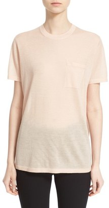 Women's Alexander Wang Wool & Silk Knit Crewneck Tee $395 thestylecure.com