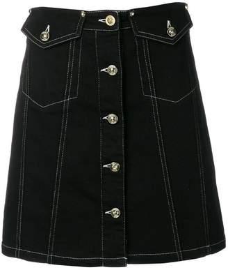 Versace buttoned A-line skirt