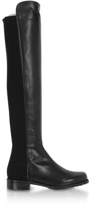 Stuart Weitzman The 5050 Black Leather Boots