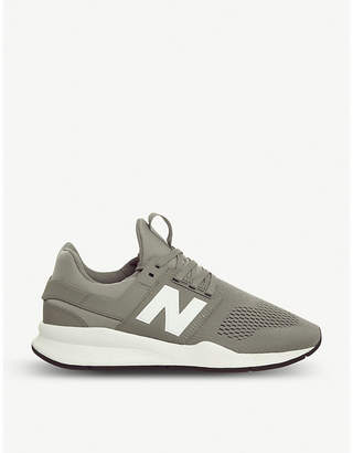 New Balance 247v2 leather and mesh trainers