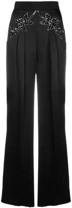 Christopher Kane sequin flower satin trousers