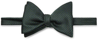 Turnbull & Asser Pre-Tied Puppytooth Silk-Jacquard Bow Tie