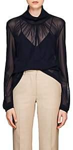 Victoria Beckham Women's Sheer Tulle Blouse - Dk Navy