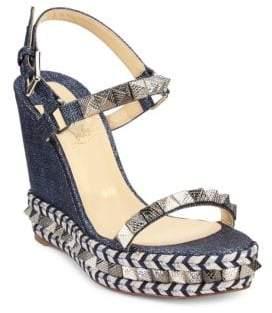 Christian Louboutin Pyraclou 110 Denim Platform Sandals