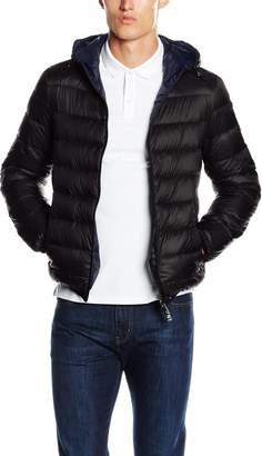 Armani Jeans Men's Reversible Down Jacket Black L