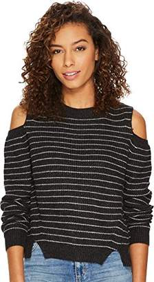 Lucky Brand Women's Stripe Cold Shoulder Pullover Sweater