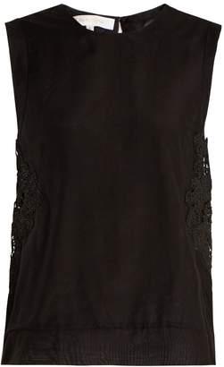 LILA EUGÉNIE 1841 sleeveless cotton and silk-blend voile top