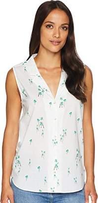 NYDJ Women's Sleeveless Button Detail Top