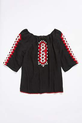 Vintage Loves Vintage 1970s Embroidered Tunic Top