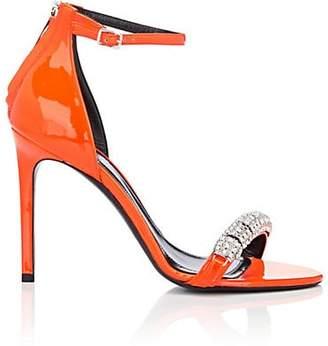 Calvin Klein Women's Camelle Patent Leather Sandals - Orange Size 7.5