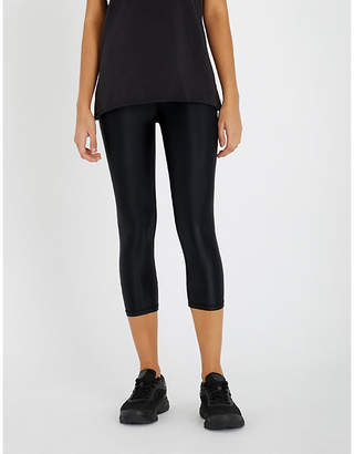 The Upside Womens Black NYC Cropped Stretch-Jersey Leggings