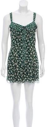 Anna Sui Printed Silk Sleeveless Romper w/ Tags
