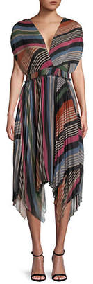 Saylor Lia Pleated Open Back Dress