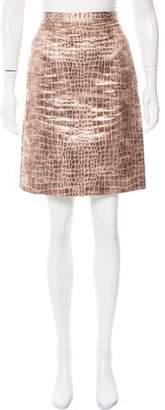 Christian Siriano Matelassé Knee-Length Skirt
