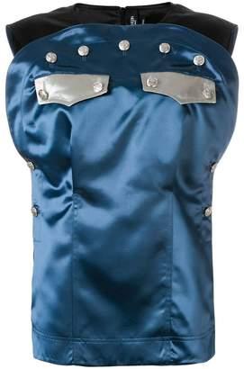 Calvin Klein button embellished blouse