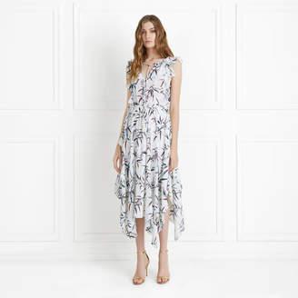 Rachel Zoe Pippa Bamboo Printed Silk Chiffon Midi Dress