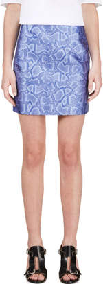Richard Nicoll Blue Python Jacquard Mini Skirt