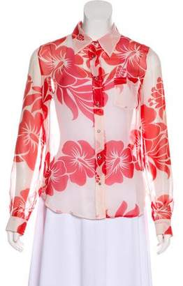 Dolce & Gabbana Sheer Button-Up Top