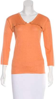 Calvin Klein Collection Long Sleeve Knit Sweater