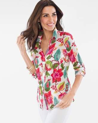 Chico's Cino For Floral Crinkle Shirt